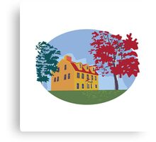 Colonial House WPA Canvas Print