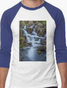 Mountain Waterfall Men's Baseball ¾ T-Shirt