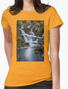 Mountain Waterfall Womens Fitted T-Shirt