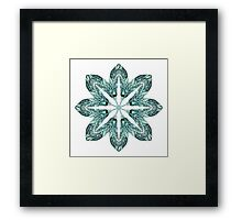 Tribal Feather Star Mandala Framed Print