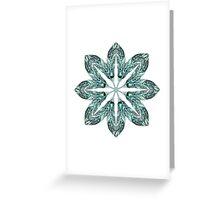 Tribal Feather Star Mandala Greeting Card