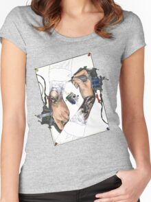 Drawing Hands Women's Fitted Scoop T-Shirt