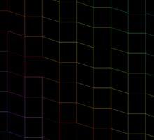 zigzag squares in Neon Sticker