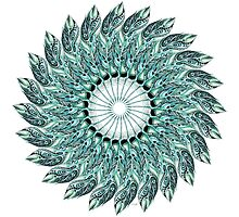 Tribal Feather Mandala Two  by Ronelle Cook