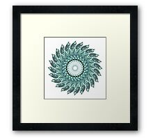 Tribal Feather Mandala Two  Framed Print