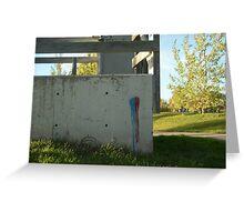 Wall Art Modern Graffiti Greeting Card