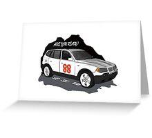 BMW X3 Greeting Card