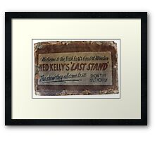 NED KELLY'S LAST STAND Framed Print