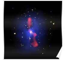 Composite image of a galaxy cluster. Poster