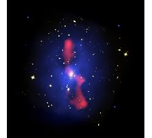 Composite image of a galaxy cluster. Photographic Print