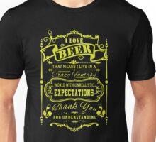 I LOVE BEER FANTASY Unisex T-Shirt