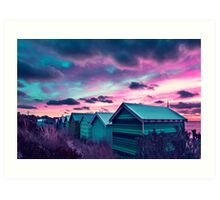Brighton Beach Sunset Art Print