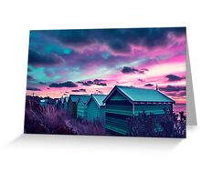 Infrared Sunset Greeting Card