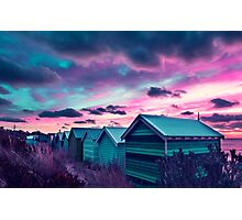 Brighton Beach Sunset Photographic Print
