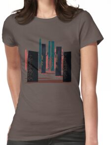Flat Stamp Forest Womens Fitted T-Shirt