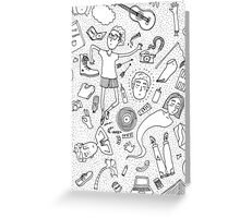 PEOPLE AND DOTS DOODLE Greeting Card