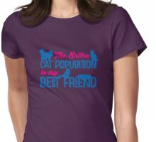 Cat population  Womens Fitted T-Shirt