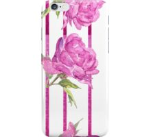 pattern Stripes peony  iPhone Case/Skin