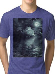 Night On Sea Tri-blend T-Shirt