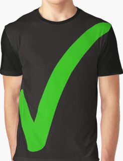 brush stroke tick Graphic T-Shirt
