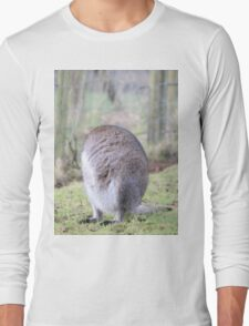 Funny Wallaby Fur Ball Long Sleeve T-Shirt