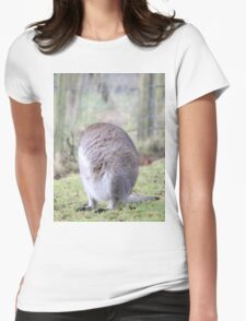 Funny Wallaby Fur Ball Womens Fitted T-Shirt