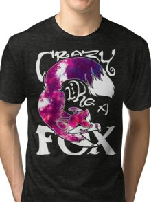 Crazy Like A Fox - Purple Galaxy Tri-blend T-Shirt