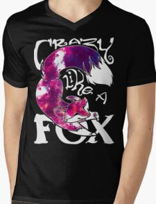 Crazy Like A Fox - Purple Galaxy Mens V-Neck T-Shirt