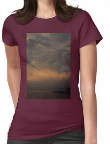 Moody Storm Sky Womens Fitted T-Shirt