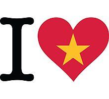 I Love Vietnam Photographic Print