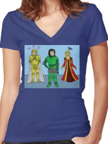 Knightly Infatuation Women's Fitted V-Neck T-Shirt
