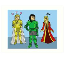 Knightly Infatuation Art Print