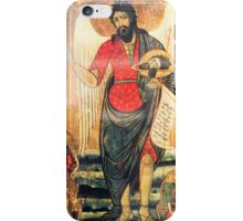 Old Orthodox icon of John the Baptist  iPhone Case/Skin