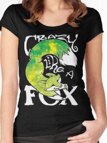 Crazy Like A Fox - Acidsplash Women's Fitted Scoop T-Shirt