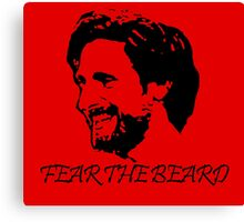 Joe Allen - LFC - Liverpool FC - Fear the Beard Canvas Print