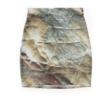 Natural Stone Texture Beige Gray Mini Skirt