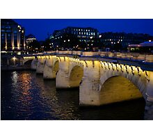 Pont Neuf Bridge - Paris, France Photographic Print