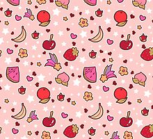 Kawaii Fruit Pattern by SaradaBoru