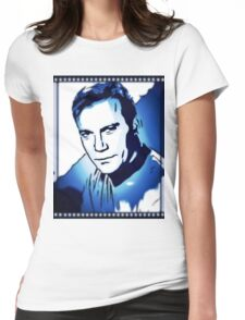 William Shatner as Captain Kirk Womens Fitted T-Shirt