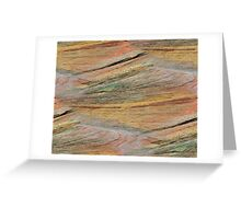 Natural Colorful Sandstone Texture  Greeting Card