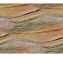 Natural Colorful Sandstone Texture  Photographic Print