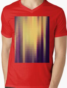 abstract square pattern Mens V-Neck T-Shirt