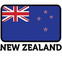 National Flag of New Zealand Photographic Print