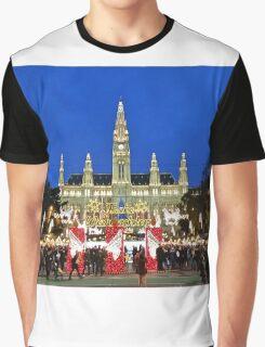 Vienna Rathaus at Christmas time. Graphic T-Shirt