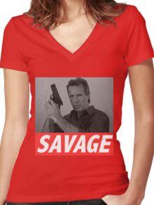 Derek Savage Women's Fitted V-Neck T-Shirt
