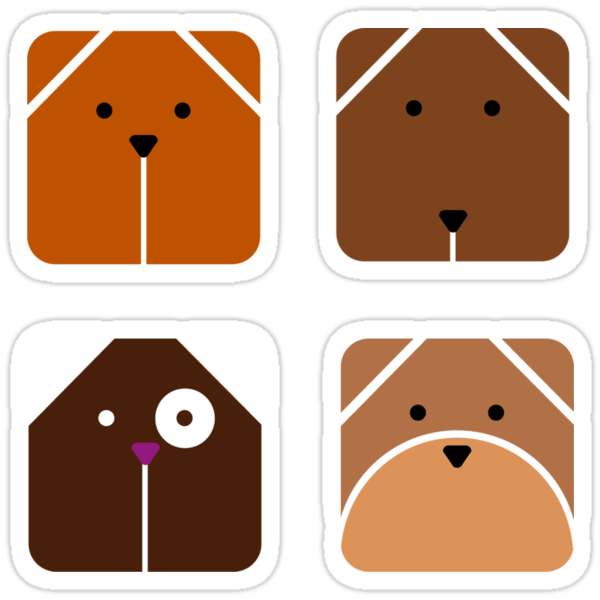 Squared dogs by venitakidwai1