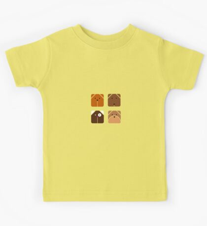 Squared dogs Kids Tee