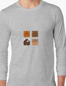 Squared dogs Long Sleeve T-Shirt