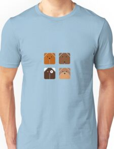 Squared dogs Unisex T-Shirt