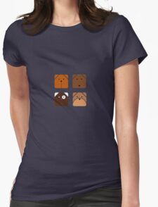 Squared dogs Womens Fitted T-Shirt